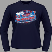 2011 13th Annual National Collegiate Roller Hockey Championships - Navy - Heavy Cotton 100% Cotton T